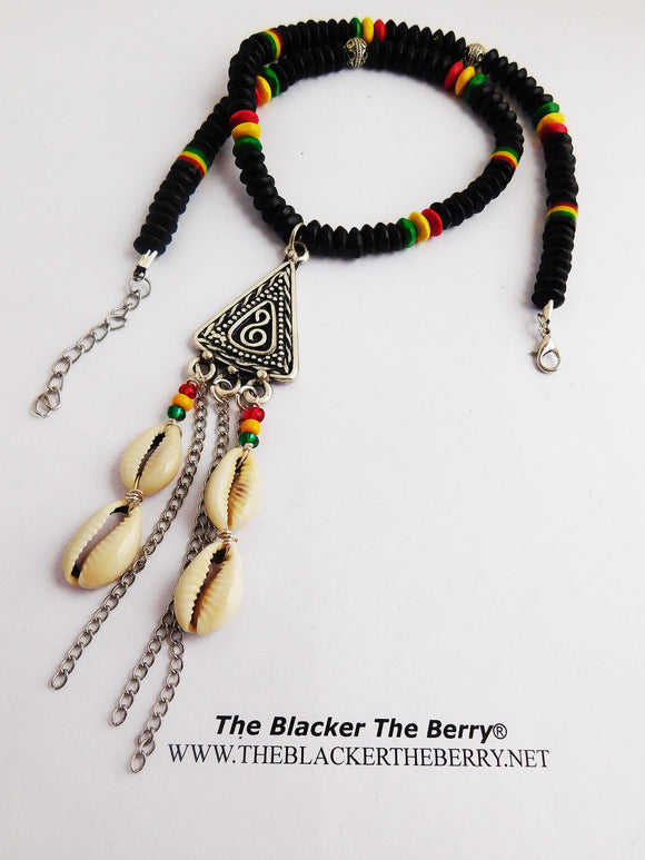 Rasta Necklace Beaded Jewelry Ethnic Fashion Cowrie Shell
