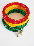 Rasta Beaded Bracelet Ethnic Jewelry Women African