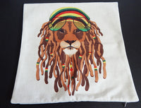 Rasta Lion Dreadlocks Pillowcase African (PILLOWCASE ONLY)