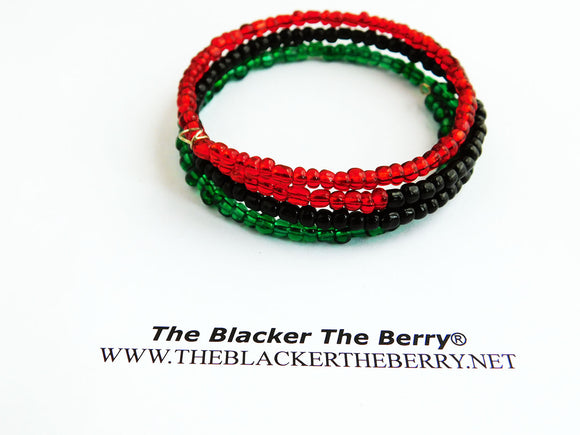 Red Black Green Bracelet Beaded Jewelry Pan African