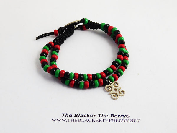 RBG Bracelet Anklet Pan African Jewelry Beaded Ethnic