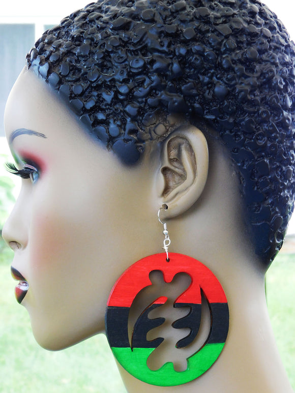Gye Nyame Earrings RBG African Adinkra Pan African Jewelry