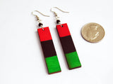 RBG Jewelry Set Pan African Red Black Green Bangle Set Bracelet Earrings Necklaces Jewelry Set