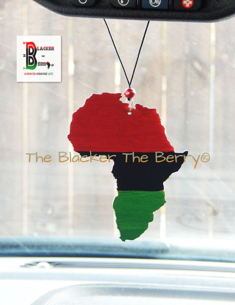RBG Africa Car Charm Black Cowrie Handmade Accessories Gift Ideas