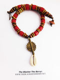 Women African Necklaces Red Beaded Jewelry Ethnic The Blacker The Berry