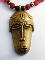 African Jewelry Men Necklaces Beaded Ethnic Brass Africa Gift Ideas