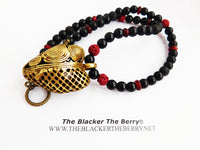 African Heart Necklace Jewelry Women Red Black