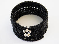Sankofa Bracelet Beaded Black Handmade Jewelry for Women African Christmas