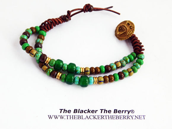 Sankofa Bracelet Beaded Ethnic Jewelry Handmade