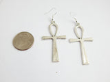 Silver Ankh Earrings Egyptian Jewelry African Ethnic The Blacker The Berry®
