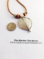 Tribal Necklace Women Jewelry Silver Leaf Leather Gift Ideas