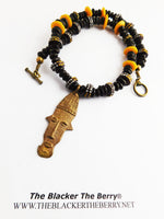 African Mask Necklaces Beaded Ethnic Jewelry