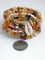 Cowrie Shell Bracelet Natural Stone Beaded Jewelry Gift Ideas for Her