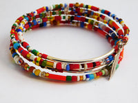 Ethnic Bracelets Beaded Gift Ideas for Her Christmas Silver Adjustable