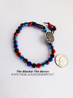 Tribal Anklet Beaded Leather Jewelry