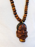Men African Necklace Warrior Jewelry Tribal Ethnic Beaded Big Large Beads Mask