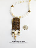 White Necklace Beaded Jewelry Beach Summer Wedding Gift Ideas Women