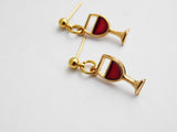 Wine Earrings Post Jewelry Gold Wine Gift Ideas for Her