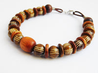 Large Wood Bracelet Jewelry Wooden Gift Ideas for Him