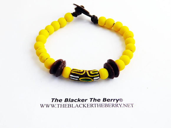 Yellow Bracelet Beaded Jewelry
