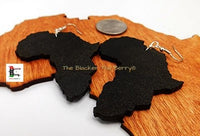 Africa Earrings Black Wooden Handmade Jewelry Women