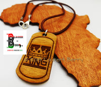 King Necklace Wooden Handmade The Blacker The Berry® Jewelry