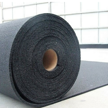 Black Rubber Gym Flooring - Rolls