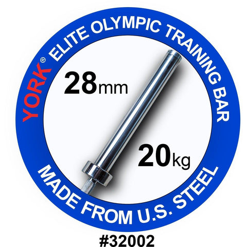 YORK® 7FT Mens Elite Olympic Training Bar