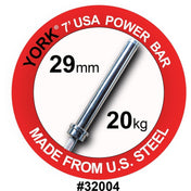 YORK® 7FT Mens Elite Olympic Power Bar - Full Metal Industries