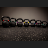 Black Cast Kettlebells with Coloured Stripe