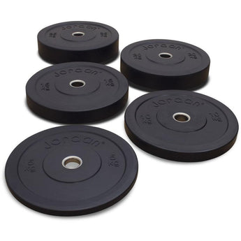 High Grade Olympic Black Rubber Bumper Plates - Full Metal Industries