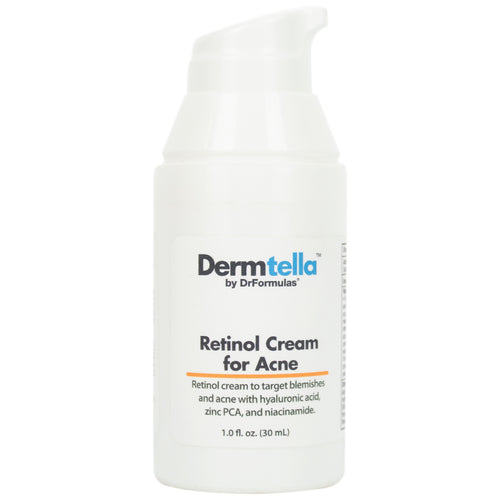 DrFormulas Retinol Cream for Acne with Hyaluronic Acid and Rosehip Oil, 30 mL