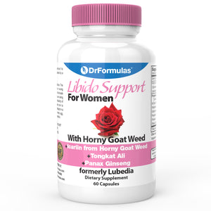 DrFormulas™ Libido Booster for Women | Horny Goat Weed Extract, 60 Capsules (formerly Lubedia)