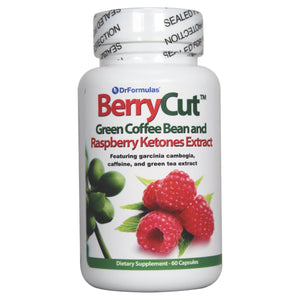 Berrycut 700mg Pure Raspberry Ketones with Green Coffee Bean Extract Fat Burner (60 Capsules)