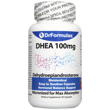 DrFormulas DHEA 100mg Booster for Women and Men Supplements | Dehydroepiandrosterone Pills for Androgen Support, 30 Capsules (not Cream or Gel)