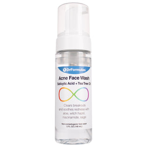 DrFormulas Face Cleanser for Acne & Blackheads with Salicylic Acid & Tea Tree Oil, 5 oz Foam Cleanser