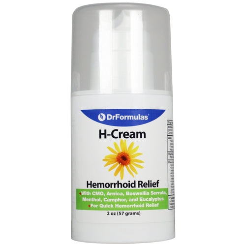 DrFormulas Hemorrhoid Treatment Cream | Extra Strength Pain Relief for External Hemorrhoids (2oz)