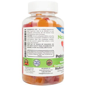 Nexabiotic Multivitamin Probiotic Gummies with Omega-3 for Kids and Adults