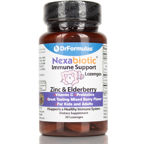 DrFormulas Zinc Lozenges with Elderberry, Vitamin C, Probiotics | 30 Count
