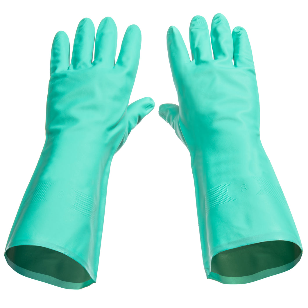 Tusko Products Best Nitrile Rubber Cleaning, Household, Dishwashing Gloves, Latex Free, Vinyl Free