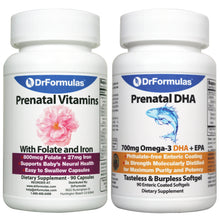 DrFormulas Prenatal Vitamins with DHA, Folate/Folic Acid/Methyfolate and Iron for Pregnant and Breasfeeding Women, Multivitamin Supplement Pills