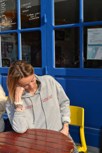 Sweat capuche gris femme style sincerly jules