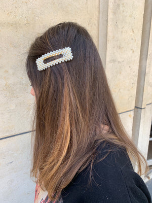 Barrettes perles RECTANGLE