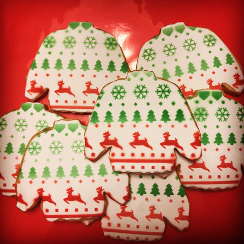 Ugly Christmas Sweater Pattern Cookie Stencil example