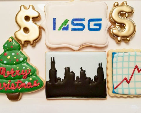 Custom Logo Stencil for holiday cookies example