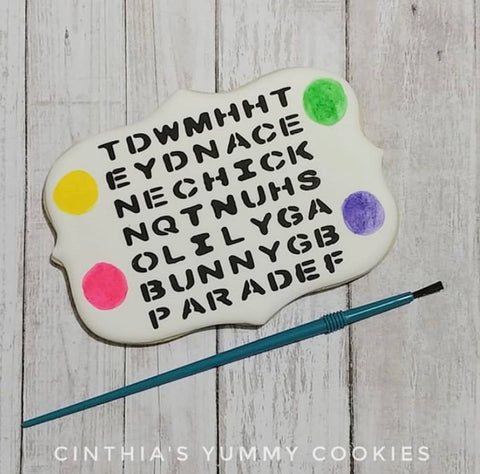 Easter Word Search Cookie Stencil