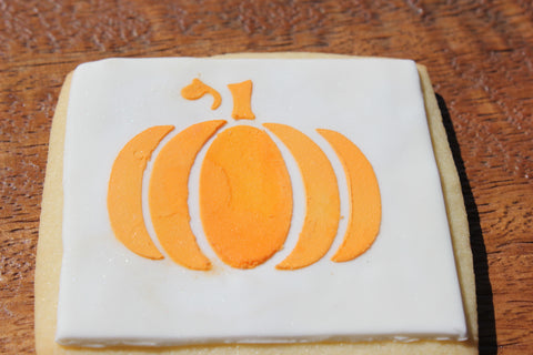 fall themed cookie made with Pumpkin Cookie Stencil