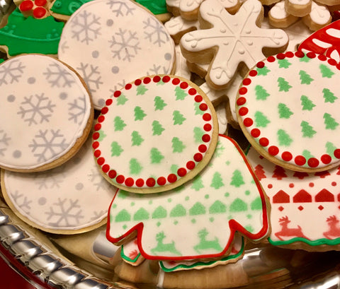 Snowflake Pattern and Ugly Christmas Sweater Pattern Cookies example