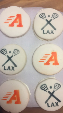 Custom Stencil for Lacrosse Cookies Photo