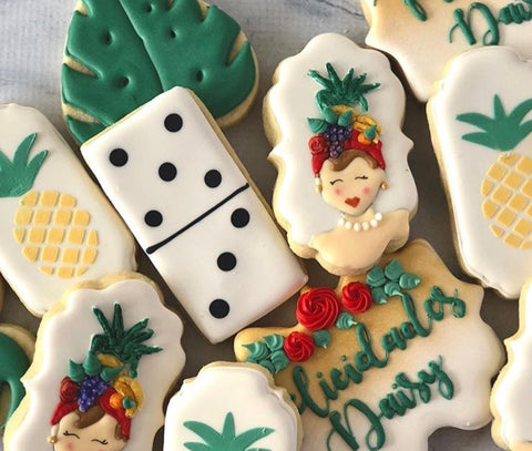 Havana Night Themed Cookies made with Pineapple Cookie Stencil